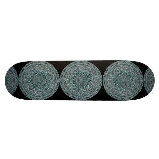 Teal Mandala Skateboard