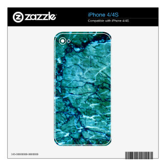 Teal Marble Skins For The iPhone 4S