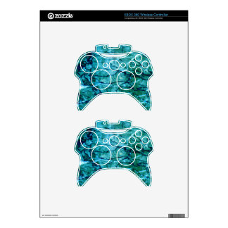 Teal Marble Xbox 360 Controller Decal