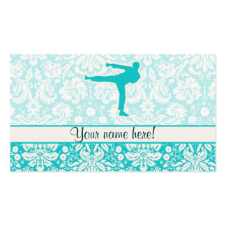 Teal Martial Arts Business Card Templates