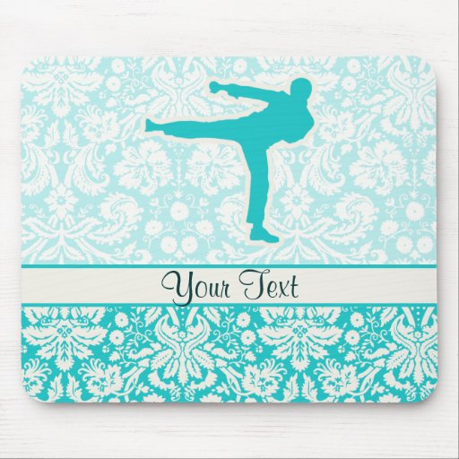 Teal Martial Arts Mouse Pad