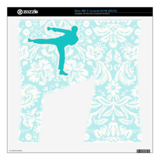 Teal Martial Arts Xbox 360 S Console Skins