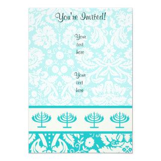 Teal Menorah Card