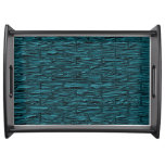 Teal Metallic Brick Serving Tray
