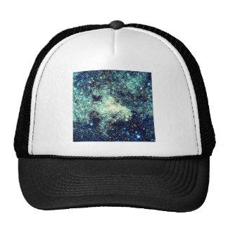 Teal Milky Way Galaxy Trucker Hat