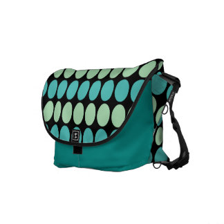 Teal & Mint Dots Messenger Bag