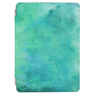 Teal Mint Green Watercolor Texture Pattern iPad Air Cover