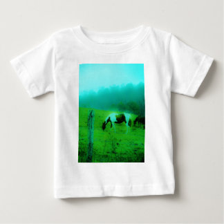Teal mist Reto colored painted pony Horse Baby T-Shirt
