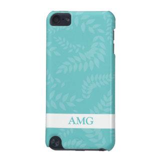 Teal Modern Foliage Ferns iPod Touch 5G Case