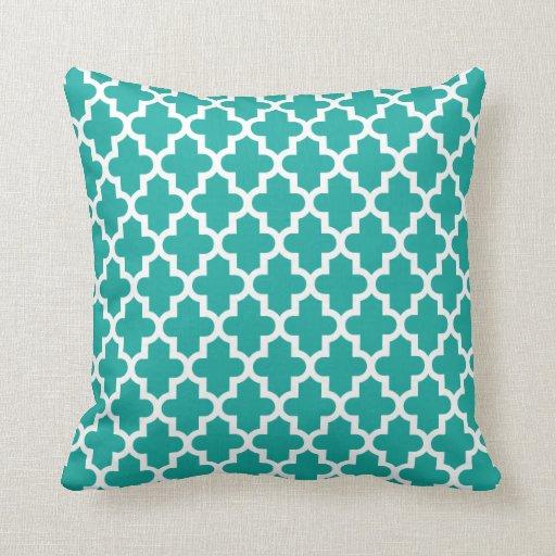Teal Modern Moroccan Pattern Pillows Zazzle