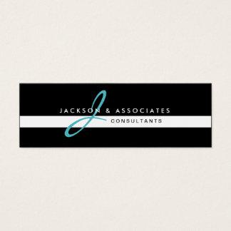 Teal Monogram Professional Business Card