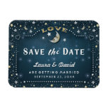 Teal Moon & Stars Save the Date Magnet