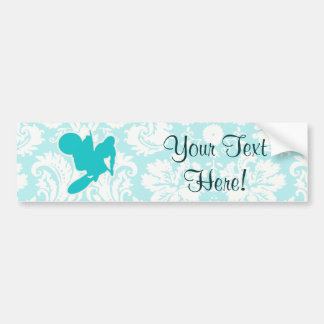Teal Motocross Whip Bumper Sticker