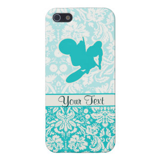 Teal Motocross Whip iPhone SE/5/5s Cover
