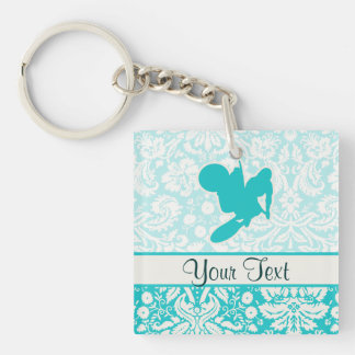Teal Motocross Whip Key Chains