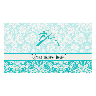 Teal Mountain Climbing Double-Sided Standard Business Cards (Pack Of 100)