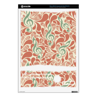 Teal Music Groovy Design Xbox 360 S Decals