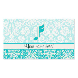 Teal Music Note Business Card
