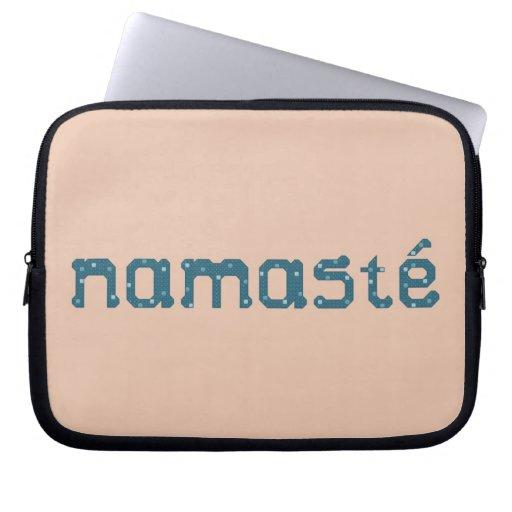 Teal Namaste Laptop Case Computer Sleeves