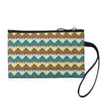 Teal Native Tribal Chevron Pattern Clutch Bag Coin Purse at  Zazzle