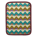 Teal Native Tribal Chevron Pattern Sleeve For iPads