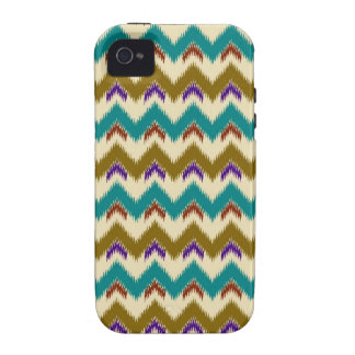 Teal Native Tribal Chevron Pattern iPhone 4 Vibe iPhone 4/4S Cases