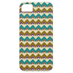 Teal Native Tribal Chevron Pattern iPhone 5 Case