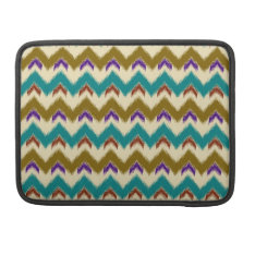 Teal Native Tribal Chevron Pattern Macbook Pro 13 Macbook Pro Sleeve at Zazzle