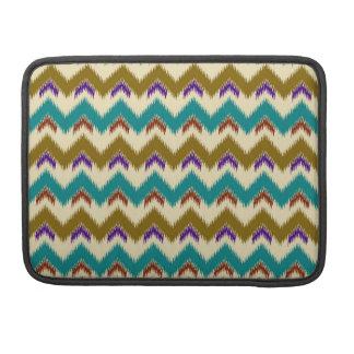 Teal Native Tribal Chevron Pattern Macbook Pro 13 MacBook Pro Sleeve