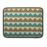 Teal Native Tribal Chevron Pattern Macbook Pro 13 Sleeve For MacBooks