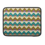 Teal Native Tribal Chevron Pattern Macbook Pro 13 Sleeve For MacBooks