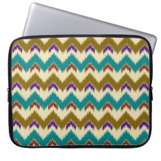 Teal Native Tribal Chevron Pattern Sleeve 15 at Zazzle