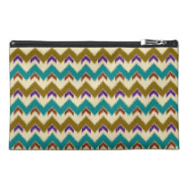 Teal Native Tribal Chevron Pattern Travel Makeup Travel  Accessories Bag at Zazzle
