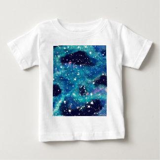 Teal Nebula and Stars Baby T-Shirt