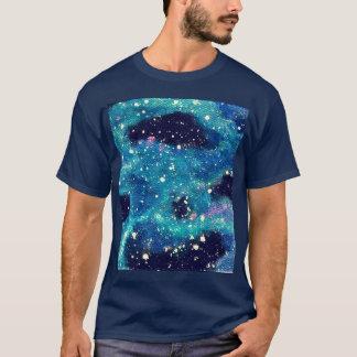 Teal Nebula and Stars T-Shirt