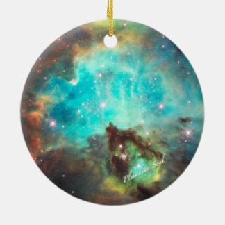 Teal Nebula Round Ornament #2