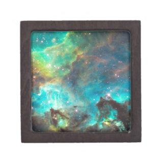 Teal Nebula Small Treasure Box