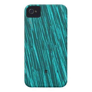 Teal Neon Scratch iPhone 4 ID Case