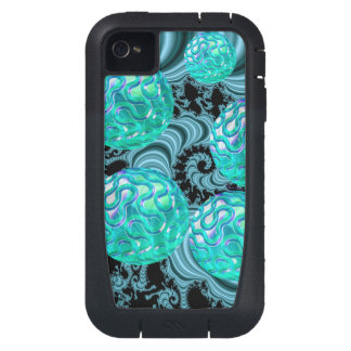 Teal New Beginnings, Abstract Fractal Journey iPhone4 Case