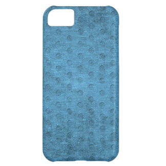 Teal Nubby Chenille Fabric Case For iPhone 5C