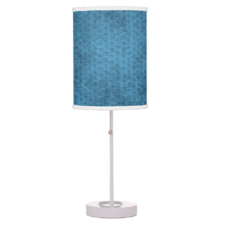 Teal Nubby Chenille Fabric Table Lamp