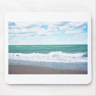 Teal Ocean, Sandy Beach Mouse Pad