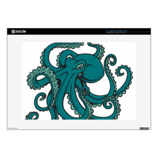 Teal Octopus Decal For Laptop