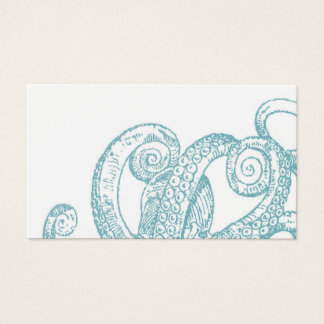 Teal Octopus Tentacles Business Card