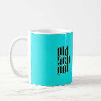 Teal Old School Design Coffee Mug