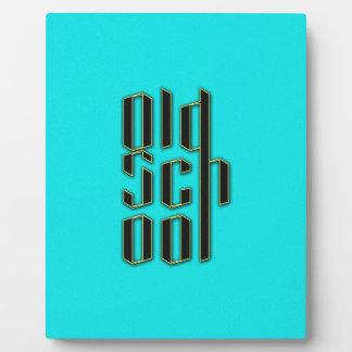 Teal Old School Design Plaques