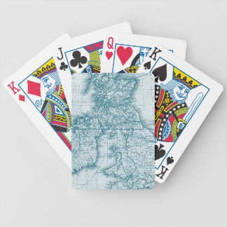 Teal Old World Antique Custom Playing Cards