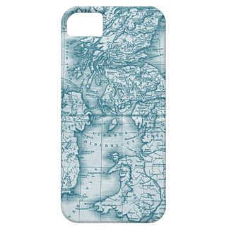 Teal Old World Antique Map iphone 5 Case