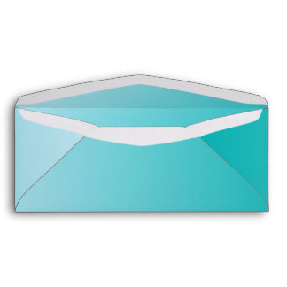 Teal Ombre #10 Envelope
