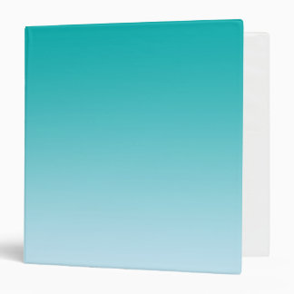 Teal Ombre 3 Ring Binder
